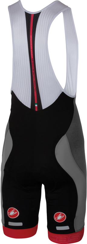 Castelli Velocissimo bibshort grey/black men