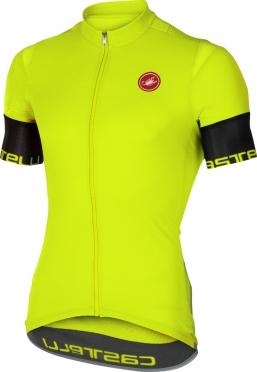 Castelli Entrata 2 jersey short sleeve yellow men