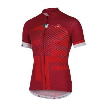 Castelli Veleno jersey red men 16018-017