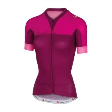 Castelli Aero race W jersey raspberry women 16053-028