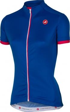 Castelli Anima jersey matte blue women
