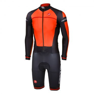 Castelli CX 2.0 speedsuit orange/black men