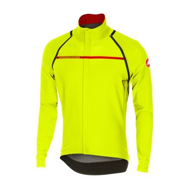 Castelli Perfetto convertible jacket yellow-fluo men