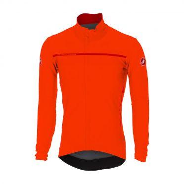 Castelli Perfetto long sleeve jacket orange men