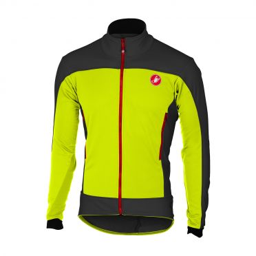 Castelli Mortirolo 4 jacket yellow/light black men