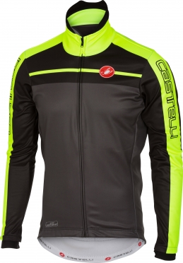 Castelli Velocissimo jacket anthracite/yellow fluo men 16513-009