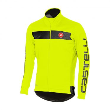 Castelli Raddoppia jacket yellow-fluo/reflex men