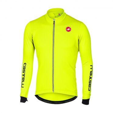 Castelli Puro 2 long sleeve jersey yellow fluo men