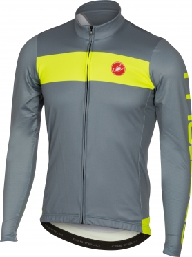 Castelli Raddoppia jersey FZ mirage/yellow men 16518-077