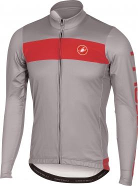 Castelli Raddoppia jersey FZ grey/red men 16518-080
