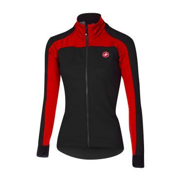 Castelli Mortirolo 2 W long sleeve jacket black/red women