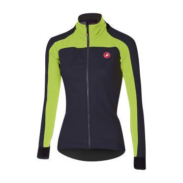 Castelli Mortirolo 2 W long sleeve jacket anthracite/lime women