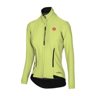 Castelli Perfetto W long sleeve cycling jacket lime women