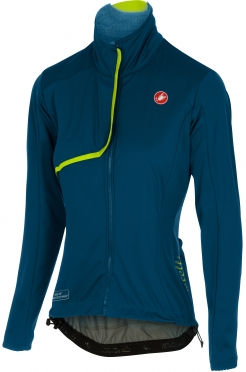 Castelli Indispensabile jacket ocean/yellow-fluo women 16543-078