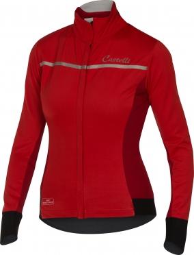 Castelli Trasparente 3 W jersey FZ red women 16544-023