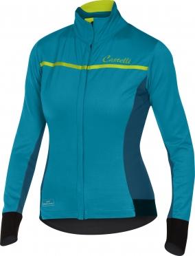 Castelli Trasparente 3 W jersey FZ laguna/ocean women 16544-079