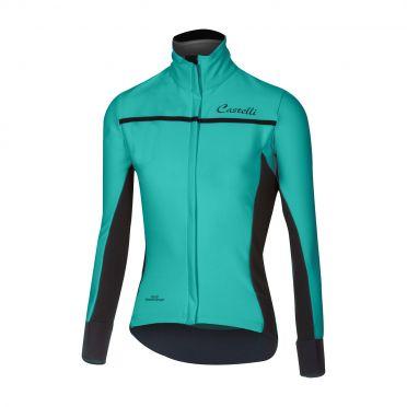 Castelli Trasparente 3 W long sleeve jersey turquoise women