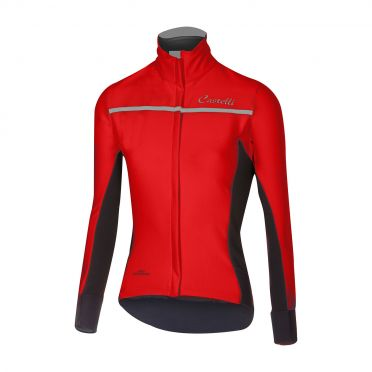 Castelli Trasparente 3 W long sleeve jersey red women