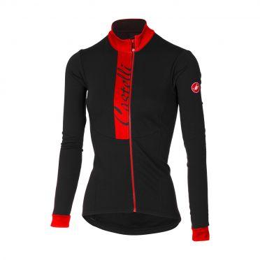 Castelli Sorriso long sleeve jersey black/red women