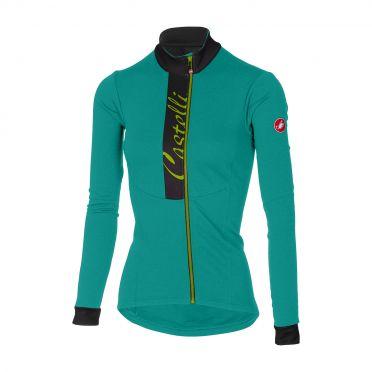 Castelli Sorriso long sleeve jersey turquoise women
