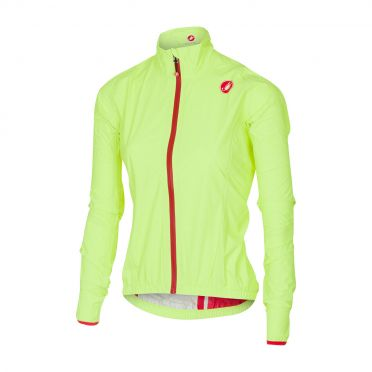 Castelli Riparo rain W jacket yellow-fluo women 16550-032