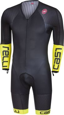 Castelli Body paint 3.3 speedsuit long sleeve black/yellow fluo men