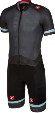 Castelli Sanremo 3.2 speedsuit short sleeve anthracite/black men