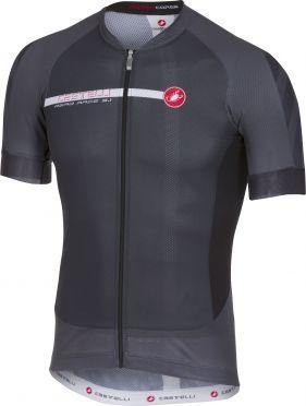 Castelli Aero race 5.1 jersey anthracite/white men