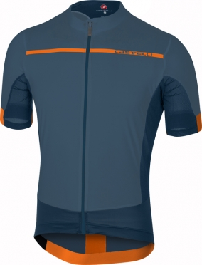 Castelli Forza pro jersey blue/orange men