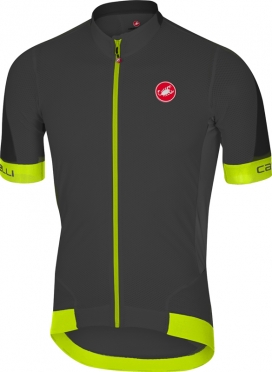 Castelli Volata 2 jersey anthracite/yellow men