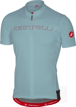 Castelli Prologo V jersey short sleeve pale blue men