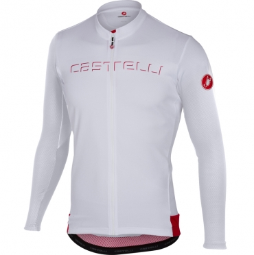 Castelli Prologo V jersey long sleeve white men
