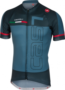 Castelli Spunto jersey short sleeve blue/navy men