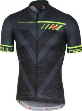 Castelli Velocissimo jersey short sleeve anthracite men