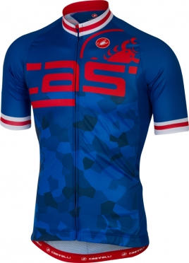 Castelli Attacco jersey short sleeve blue men
