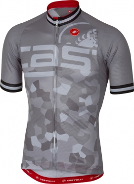 Castelli Attacco jersey short sleeve grey men