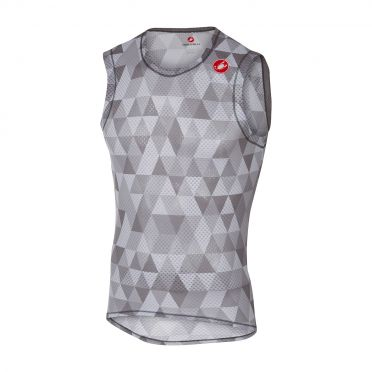 Castelli Pro mesh sleeveless baselayer multicolor gray men