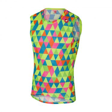 Castelli Pro mesh sleeveless baselayer multicolor fluo men