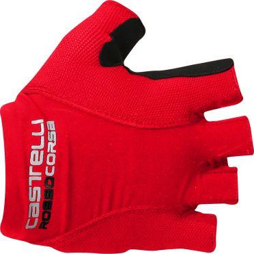 Castelli Rosso corsa pave glove red men