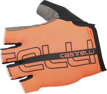 Castelli Tempo glove orange/black men