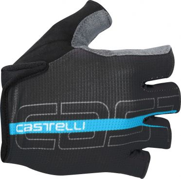 Castelli Tempo glove black/sky blue men