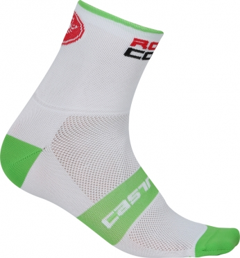 Castelli Rosso corsa 9 cycling sock white/blue men