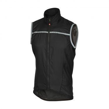 Castelli Superleggera vest rainjacket black men