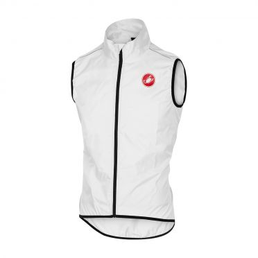 Castelli Squadra vest rainjacket white men