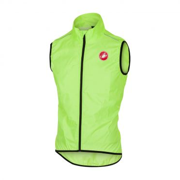Castelli Squadra vest rainjacket yellow fluo men
