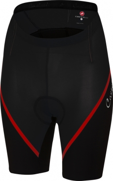 Castelli Magnifica short black/red women