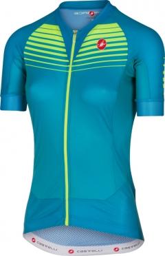 Castelli Aero race W jersey caribbean/yellow women