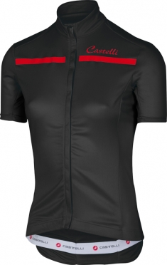 Castelli Imprevisto W jersey black/red women