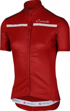 Castelli Imprevisto W jersey red/white women