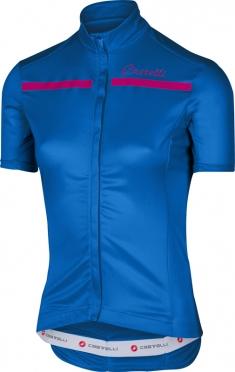Castelli Imprevisto W jersey matte blue/raspberry women